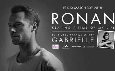 Special guest Gabrielle to perform alongside Ronan Keating