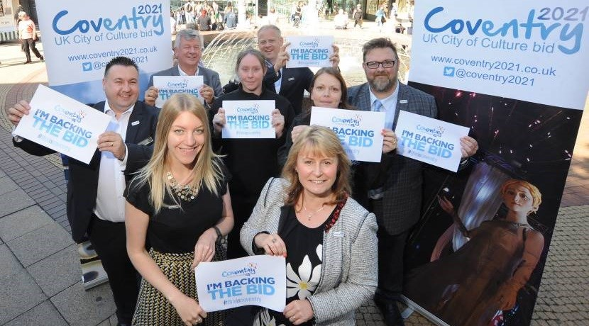 Coventry city centre businesses back UK City of Culture 2021 bid