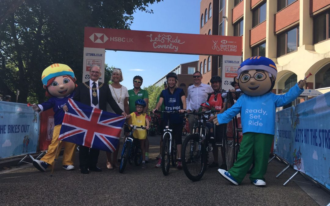 Pedal power! HSBC Let's Ride fills Coventry with thousands of cyclists
