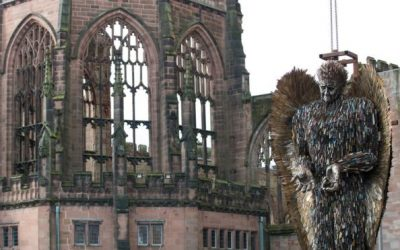 Knife Angel sculpture installed at Coventry Cathedral
