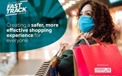Retailers welcome shoppers with fast track access using RSQ