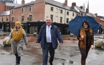 Two historic streets in Coventry city centre have been transformed